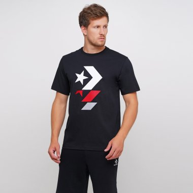 Футболки converse Repeated Star Chevron Tee - 123559, фото 1 - интернет-магазин MEGASPORT