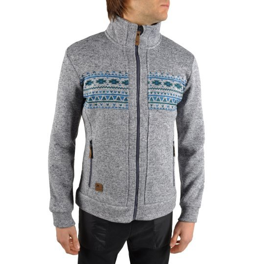 Кофта East Peak mens knitted fulzip w/print - фото
