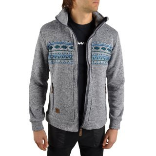 Кофта East Peak mens knitted fulzip w/print - фото 8
