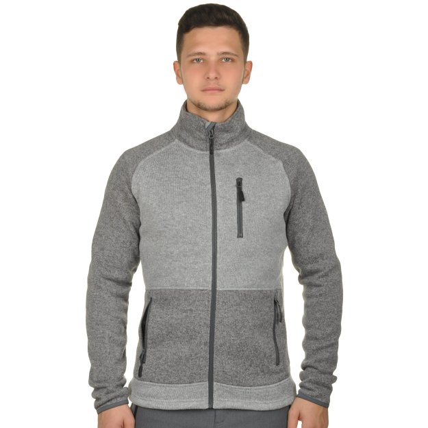Кофта East Peak Men's Knitted Two-Color Fulzip Jacket - MEGASPORT