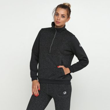 women's halfzip with kangoo pocket