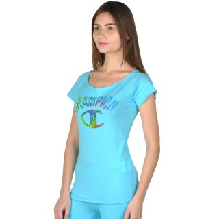Футболка Champion Boat Neck T'shirt - фото 2