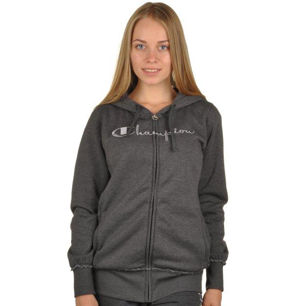 Кофта Champion Hooded Full Zip Sweatshirt - 95307, фото 1 - интернет-магазин MEGASPORT