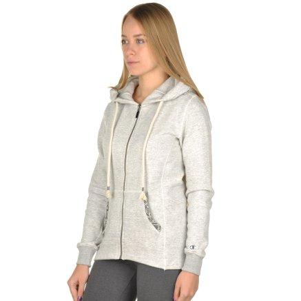 Кофта Champion Hooded Full Zip Sweatshirt - 95319, фото 2 - интернет-магазин MEGASPORT