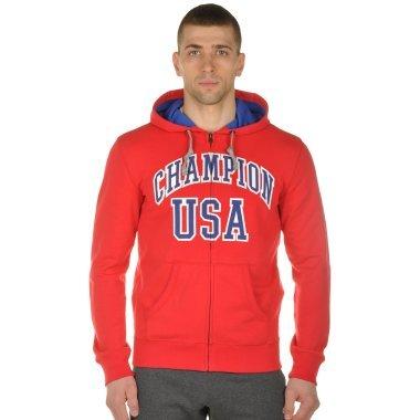 Кофты champion Hooded Full Zip Sweatshirt - 100851, фото 1 - интернет-магазин MEGASPORT