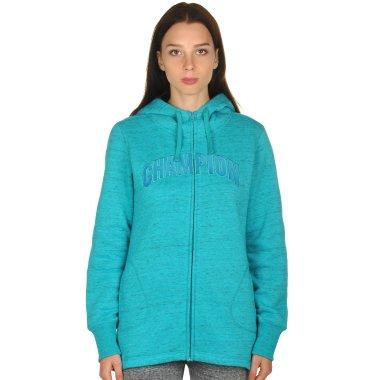 Кофты champion Maxi Hooded Full Zip Sweatshirt - 106748, фото 1 - интернет-магазин MEGASPORT