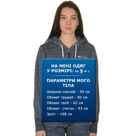 Кофта Champion Full Zip Sweatshirt - 109296, фото 9 - интернет-магазин MEGASPORT