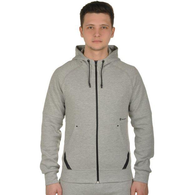 Кофта Champion Hooded Full Zip Sweatshirt - 109453, фото 1 - интернет-магазин MEGASPORT