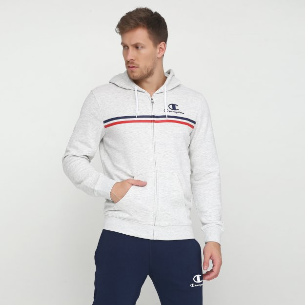 Кофта Champion Hooded Full Zip Sweatshirt - 115887, фото 1 - интернет-магазин MEGASPORT