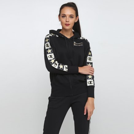 Кофта Champion Maxi Hooded Full Zip Sweatshirt - 118679, фото 1 - интернет-магазин MEGASPORT