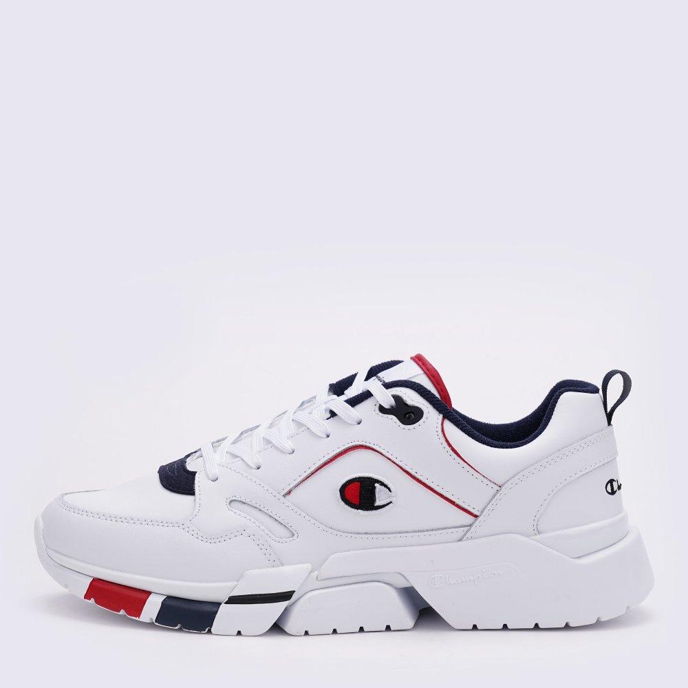 Кроссовки Champion Low Cut Shoe Lander Lea купить по цене 1489 грн | chaS21420-WHT/BLUE | MEGASPORT