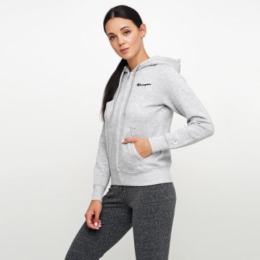 Кофти champion Hooded Full Zip Sweatshirt - 124972, фото 1 - інтернет-магазин MEGASPORT