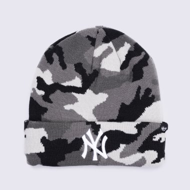 Шапки 47-brand Grove Cuff Knit New York Yankees - 120388, фото 1 - интернет-магазин MEGASPORT