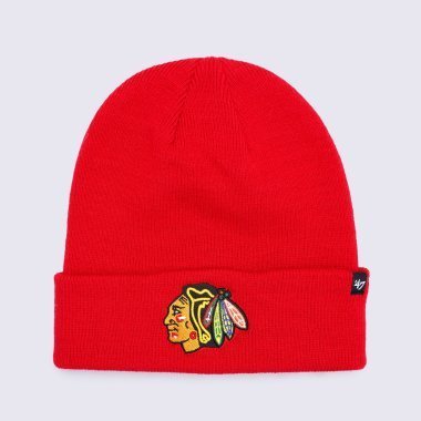 Шапки 47-brand Raised Cuff Knit Chicago Blackhawks - 120393, фото 1 - інтернет-магазин MEGASPORT