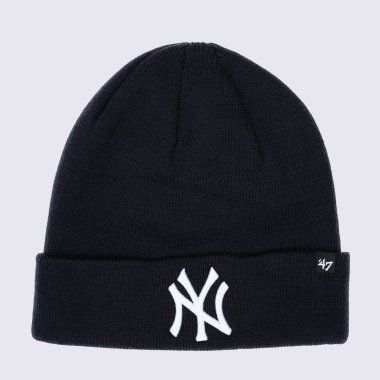 Шапки 47-brand Raised Cuff Knit New York Yankees - 120394, фото 1 - интернет-магазин MEGASPORT